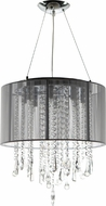 Avenue Lighting HF1501-SLV Beverly Dr. Silver Silk String Finish 17.5  Tall Halogen Drum Pendant Hanging Light