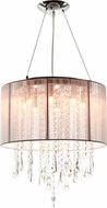 Avenue Lighting HF1501-TP Beverly Dr. Taupe Silk String Finish 16  Wide Halogen Drum Hanging Light Fixture