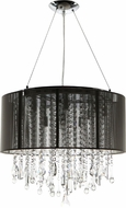 Avenue Lighting HF1502-BLK Beverly Dr. Black Silk String Finish 20  Wide Halogen Drum Drop Ceiling Lighting