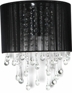 Avenue Lighting HF1511-BLK Beverly Dr. Black Silk String Finish 8  Wide Lighting Wall Sconce