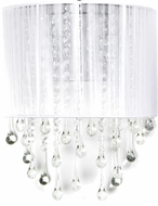 Avenue Lighting HF1511-WHT Beverly Dr. White Silk String Finish 12  Tall Wall Mounted Lamp