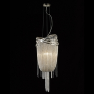 Avenue Lighting HF1608-NCK Wilshire Blvd. Polished Nickel Finish 36  Tall Hanging Pendant Lighting