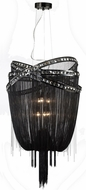 Avenue Lighting HF1609-BLK Wilshire Blvd. Black Chrome Finish 27  Wide Hanging Pendant Light