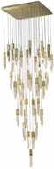 Avenue Lighting HF1903-41-AP-BB Aspen Modern Brushed Brass Halogen Multi Pendant Hanging Light