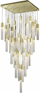 Avenue Lighting HF1903-41-BOA-BB Boa Brushed Brass Halogen Multi Drop Ceiling Lighting