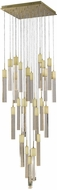 Avenue Lighting HF1903-41-GL-BB Glacier Avenue Contemporary Brushed Brass Halogen Multi Drop Ceiling Light Fixture