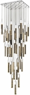 Avenue Lighting HF1903-41-GL-CH Glacier Avenue Modern Chrome Halogen Multi Drop Lighting Fixture