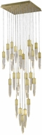 Avenue Lighting HF1904-25-AP-BB Aspen Modern Brushed Brass Halogen Multi Pendant Light