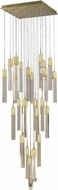 Avenue Lighting HF1904-25-GL-BB Glacier Avenue Contemporary Brushed Brass Halogen Multi Pendant Lighting Fixture