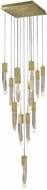 Avenue Lighting HF1905-13-AP-BB Aspen Modern Brushed Brass Halogen Multi Pendant Hanging Light