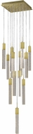 Avenue Lighting HF1905-13-GL-BB Glacier Avenue Contemporary Brushed Brass Halogen Multi Drop Ceiling Light Fixture