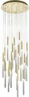 Avenue Lighting HF2021-BOA-BB Boa Modern Brushed Brass Halogen Multi Hanging Light