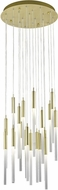 Avenue Lighting HF2021-FR-BB Main St. Modern Brushed Brass Halogen Multi Pendant Lighting Fixture