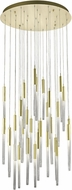 Avenue Lighting HF2031-BOA-BB Boa Modern Brushed Brass Halogen Multi Hanging Pendant Light