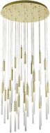 Avenue Lighting HF2031-FR-BB Main St. Modern Brushed Brass Halogen Multi Hanging Light Fixture