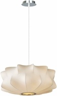 Avenue Lighting HF2110 Melrose Pl. Modern White 24  Hanging Light