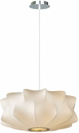Avenue Lighting HF2111 Melrose Pl. Contemporary White 18  Pendant Light Fixture