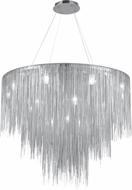 Avenue Lighting HF2222-CH Fountain Blvd. Contemporary Polished Nickel Halogen Pendant Lighting