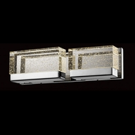 Avenue Lighting HF3002-PN Glacier Avenue Contemporary Polished Nickel LED 2-Light Bathroom Lighting