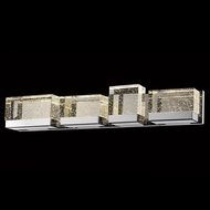 Avenue Lighting HF3004-PN Glacier Avenue Contemporary Polished Nickel LED 4-Light Bath Lighting