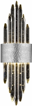 Avenue Lighting HF3017-HPN Aspen Contemporary Hammered Polished Nickel LED Wall Light Fixture