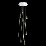 Avenue Lighting HF3813-CH Avalon Modern Polished Chrome LED Multi Pendant Lighting