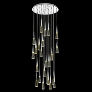 Avenue Lighting HF3825-CH Avalon Contemporary Polished Chrome LED Multi Pendant Light