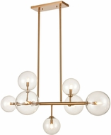 Avenue Lighting HF4207-AB Delilah Modern Aged Brass Halogen 40  Island Lighting