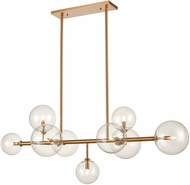 Avenue Lighting HF4209-AB Delilah Modern Aged Brass Halogen 51  Kitchen Island Lighting