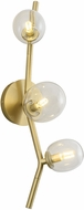 Avenue Lighting HF4803-CLR Hampton Contemporary Brushed Brass Halogen Wall Sconce Lighting