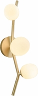 Avenue Lighting HF4803-WHT Hampton Contemporary Brushed Brass Halogen Wall Light Fixture