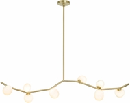 Avenue Lighting HF4808-WHT Hampton Modern Brushed Brass Halogen 61  Island Lighting