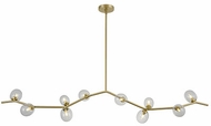 Avenue Lighting HF4810-CLR Hampton Contemporary Brushed Brass Halogen 78  Kitchen Island Lighting