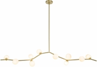 Avenue Lighting HF4810-WHT Hampton Modern Brushed Brass Halogen 78  Kitchen Island Light
