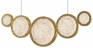 Avenue Lighting HF5010-PB Bottega Contemporary Polished Brass LED Island Lighting