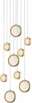 Avenue Lighting HF5019-PB Bottega Contemporary Polished Brass LED Multi Hanging Lamp