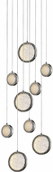 Avenue Lighting HF5019-PN Bottega Modern Polished Nickel LED Multi Hanging Light