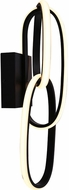 Avenue Lighting HF5022-BK Circa Contemporary Black LED Lamp Sconce