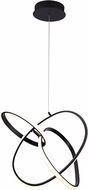 Avenue Lighting HF5023-BK Circa Modern Black LED Pendant Light Fixture
