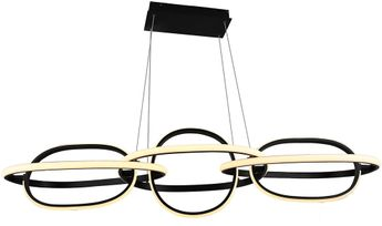 Avenue Lighting HF5025-BK Circa Contemporary Black LED Kitchen Island Lighting