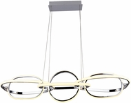 Avenue Lighting HF5025-CH Circa Modern Chrome LED Island Light Fixture