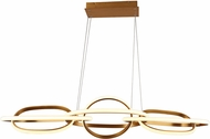 Avenue Lighting HF5025-GL Circa Contemporary Gold LED Island Light Fixture