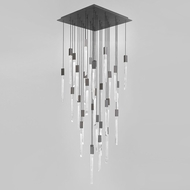 Avenue Lighting HF5431-BLK Alpine Modern Black LED Multi Pendant Light Fixture