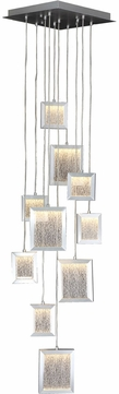 Avenue Lighting HF6010-BA Brentwood Contemporary Brushed Aluminum LED Multi Hanging Pendant Lighting