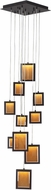 Avenue Lighting HF6010-DBZ Brentwood Modern Dark Bronze LED Multi Hanging Pendant Light