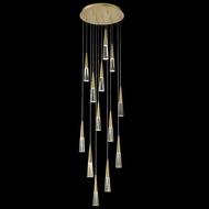 Avenue Lighting HF7713-BB Encino Contemporary Brushed Brass LED Multi Hanging Pendant Light