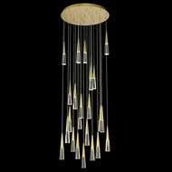 Avenue Lighting HF7725-BB Encino Contemporary Brushed Brass LED Multi Hanging Light Fixture