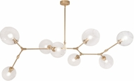 Avenue Lighting HF8088-BB Fairfax Contemporary Brushed Brass Kitchen Island Lighting