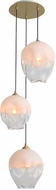 Avenue Lighting HF8143-BB-WH Sonoma Ave. Modern Brushed Brass Multi Hanging Pendant Light
