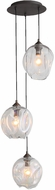 Avenue Lighting HF8143-DBZ-CL Sonoma Ave. Contemporary Dark Bronze Multi Pendant Hanging Light